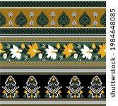 seamless textile flower border... | Shutterstock .eps vector #1984648085
