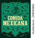 comida mexicana   mexican food... | Shutterstock .eps vector #198464882
