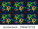 green  blue and black on colors.... | Shutterstock . vector #1984672718
