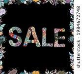 seamless. hand drawn fashion... | Shutterstock .eps vector #1984672748