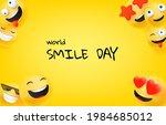 world smile day greeting card.... | Shutterstock .eps vector #1984685012