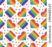 seamless pattern rainbow toy... | Shutterstock .eps vector #1984688165
