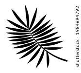 black palm leaf silhouette.... | Shutterstock .eps vector #1984694792