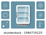 vaccine fridge vector... | Shutterstock .eps vector #1984719125