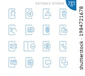 mobile apps related icons.... | Shutterstock .eps vector #1984721678
