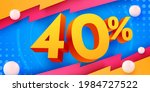 40 percent off. discount... | Shutterstock .eps vector #1984727522