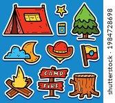 camper cartoon doodle kawaii... | Shutterstock .eps vector #1984728698