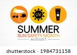 summer sun safety month is... | Shutterstock .eps vector #1984731158