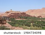 A T Benhaddou Castle With Old...