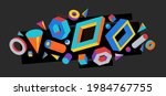 colorful 3d shapes vector...   Shutterstock .eps vector #1984767755