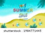 hot summer sale banner. trendy... | Shutterstock . vector #1984771445
