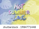 hot summer sale banner. trendy... | Shutterstock . vector #1984771448