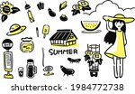 a simple illustration of a girl ...   Shutterstock .eps vector #1984772738