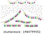 tissue paper tassel garlands...   Shutterstock .eps vector #1984799552