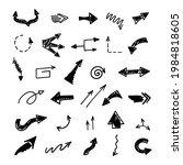 vector set of hand drawn arrows ...   Shutterstock .eps vector #1984818605