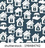 house design over gray...   Shutterstock .eps vector #198484742