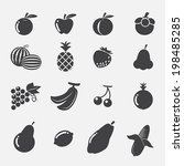 fruits icons | Shutterstock .eps vector #198485285