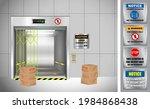 set of industrial elevators or...   Shutterstock .eps vector #1984868438