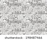 seamless business pattern | Shutterstock .eps vector #198487466