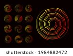 set of circle dotted speed... | Shutterstock .eps vector #1984882472