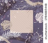 unusual scarf floral print.... | Shutterstock .eps vector #1984885448