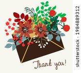 paper letter in an envelope... | Shutterstock .eps vector #1984889312