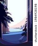 winter coniferous forest....   Shutterstock .eps vector #1984928198