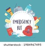 essential emergency kit... | Shutterstock .eps vector #1984967495