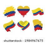 colombia flags heart patriotism ... | Shutterstock .eps vector #1984967675