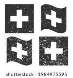 switzerland grunge flag set ...