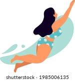 sea or ocean swimming woman....   Shutterstock .eps vector #1985006135
