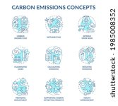 carbon emissions concept icons... | Shutterstock .eps vector #1985008352