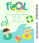 pool party   Shutterstock .eps vector #198500846
