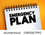Emergency Plan Text Quote On...