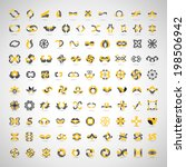 unusual icons set   isolated on ... | Shutterstock .eps vector #198506942