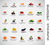 vegetables icons set   ... | Shutterstock .eps vector #198506948