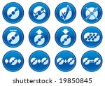 gadget icons set. white   dark... | Shutterstock .eps vector #19850845