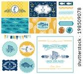 nautical sea theme set   for... | Shutterstock .eps vector #198509078