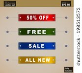 a set of sale tags in vector... | Shutterstock .eps vector #198513572