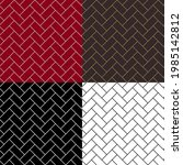 seamless diagonal patterns with ... | Shutterstock .eps vector #1985142812
