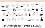cooking  baking and homemade... | Shutterstock .eps vector #1985151008