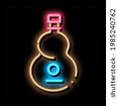 plain wooden guitar neon light... | Shutterstock .eps vector #1985240762