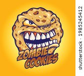 cookies angry zombie mascot...   Shutterstock .eps vector #1985245412
