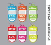 offer tag stylish template | Shutterstock .eps vector #198525368