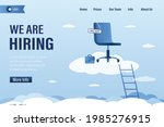 we are hiring  landing page... | Shutterstock .eps vector #1985276915