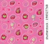 desserts sweets seamless... | Shutterstock .eps vector #198527768