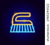 washing brush neon label....   Shutterstock .eps vector #1985294522