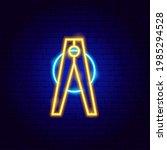 pin neon sign. vector...   Shutterstock .eps vector #1985294528