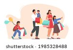 happy family shopping. father ...   Shutterstock .eps vector #1985328488