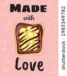 made with love sandwich cute... | Shutterstock .eps vector #1985349782